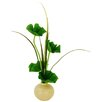 LCG Florals Pampas Grass in Round Tapered Ceramic Vase