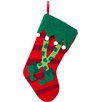Glitz Home Handmade Hooked Elf Legs Christmas Stocking
