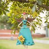 Handcrafted Angel Iron/Wooden Garden Sign - Glitzhome Garden Statues and Outdoor Accents