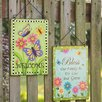 Handcrafted 2 Piece Garden Sign Set - Glitzhome Garden Statues and Outdoor Accents