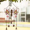 Iron Boho Beaded Butterfly Patio Wind Chime - Glitzhome Garden Statues and Outdoor Accents
