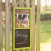 Handcrafted Wooden Farm Chalkboard Hook-Cow Garden Sign - Glitzhome Garden Statues and Outdoor Accents