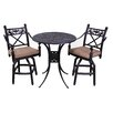 California Outdoor Designs Baldwin 3 Piece Bar Set with Cushions