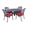 California Outdoor Designs Roma 5 Piece Dining Set with Cushions