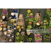 GettyImagesGallery A Floating Market on a Canal in Thailand, Fotodruck von Mint Images und Arte Wolfe