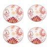 """Grace's Tea Ware Dutch Wax 8"""" Grace's Tea Ware Salad Plate Set Paisley Floral 4 Piece Set (Set of 4)"""
