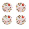 "Grace's Tea Ware Dutch Wax 8"" Grace's Tea Ware Salad Plate Set Guava Floral 4 Piece Set (Set of 4)"