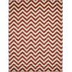 Unique Loom Chevron Rust Red Area Rug