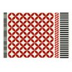 GAN RUGS Kilim Catania Red Geometric Area Rug