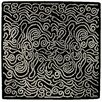 GAN RUGS Hand Tufted Etnia Black/White Striped Area Rug