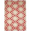 GAN RUGS Hand Tufted Flower Red Floral Area Rug