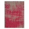 GAN RUGS Canevas Abstract Dark Pink / Dark Felt Area Rug