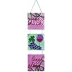 Wine Much Glass Expressions Tri Panel Wall Decor - Premier Kite Garden Statues and Outdoor Accents