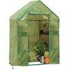"Gardman 6'5"" H x 4'8"" W x 2'5"" D Compact Walk-In Greenhouse"