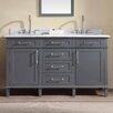 "Ari Kitchen & Bath Newport 60"" Double Bathroom Vanity Set"