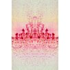 Fluorescent Palace Chrystal Light Graphic Art on Canvas in Red