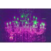 Fluorescent Palace Liquid Chandelier Graphic Art on Canvas in Purple