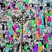 Fluorescent Palace Colorful People Graphic Art on Canvas