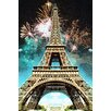 Fluorescent Palace Celebrate Paris Photographic Print on Canvas