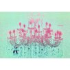 Fluorescent Palace Liquid Chandelier Graphic Art on Canvas in Mint Pastel