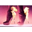 Fluorescent Palace Runway Fire Graphic Art on Canvas