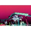 Fluorescent Palace Fluorescent Amusement Coaster Graphic Art on Canvas