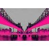 Fluorescent Palace Leinwandbild Night Vision Grafikdruck