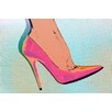 Fluorescent Palace Heel Toe Let'S Go Graphic Art on Canvas in Pink