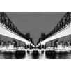 Fluorescent Palace Night Vision Graphic Art on Canvas in Black