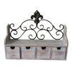 Lark Manor Fleur de Lis 4 Drawer Shelf