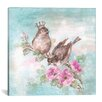 Lark Manor French Crown Songbirds I Painting Print on Wrapped Canvas