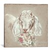 Lark Manor Goat with Wreath Painting Print on Wrapped Canvas