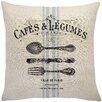 Lark Manor Murier Paris Cafe Linen Throw Pillow