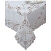Elrene Home Fashions Crochet Vinyl Lace Rectangle Tablecloth