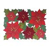 Elrene Home Fashions Christmas Allover Rectangular Cutwork Placemat (Set of 4)