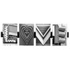 Language Art Love by Greg and Dilynn Puckett Textual Art in Black and White