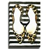 Bashian Home Leopard Zebra Stripes by Kelsey McNatt Painting Print on Gallery Wrapped Canvas