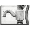 Bashian Home Rustic Pump BW by Lisa Russo Photographic Print on Canvas