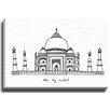 Bashian Home Taj Mahal by Coco Draws Graphic Art on Gallery Wrapped Canvas