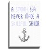Bashian Home Smooth Sailor by Coco Draws Graphic Art on Wrapped Canvas