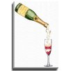 Bashian Home Strawberry Champagne by Lady Gatsby Painting Print on Wrapped Canvas