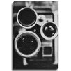 Bashian Home Vintage Camera BW by Lisa Russo Photographic Print on Gallery Wrapped Canvas