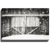 Bashian Home Snowy Barn BW by Lisa Russo Photographic Print on Gallery Wrapped Canvas