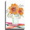 Bashian Home Watercolor Sunflowers by Kelsey McNatt Painting Print on Gallery Wrapped Canvas