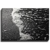 Bashian Home Salty Foam BW by Lisa Russo Photographic Print on Gallery Wrapped Canvas