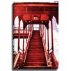 Bashian Home Red Stairs by Dean Penn Photographic Print on Gallery Wrapped Canvas