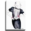 Bashian Home Sassy Black by Kelsey McNatt Painting Print on Gallery Wrapped Canvas
