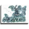 Bashian Home Wake up Be awesome by Kelsey McNatt Painting Print on Canvas