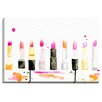 Bashian Home 'Lipstick' by Kelsey McNatt Painting Print on Canvas