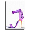 Bashian Home Purple High Heel by Kelsey McNatt Painting Print on Canvas